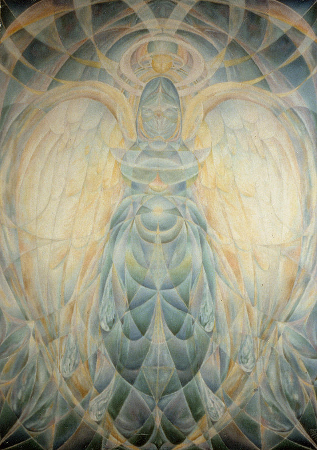 Symbolist Painting - The Archangel Gabriel by Daniel Gautier