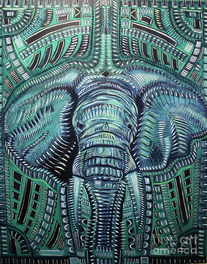 Elephant Painting - The Beast by Michael Kulick