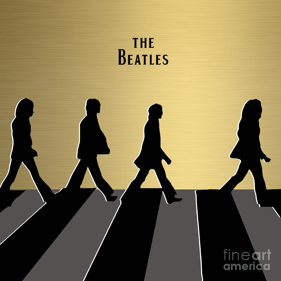 The Beatles Gold Series Mixed Media by Marvin Blaine