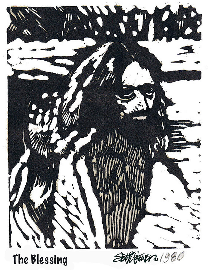 Jesus Christ Mixed Media - The Blessing by Seth Weaver