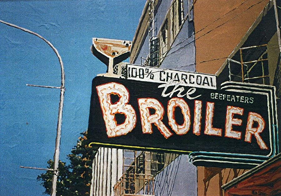 Sacramento Painting - The Broiler On J Street by Paul Guyer