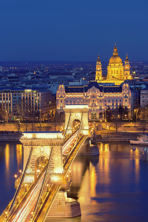 The Chain Bridge In Budapest Photograph by  Ultraforma