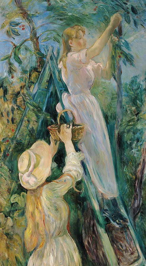 Friends Painting - The Cherry Picker  by Berthe Morisot