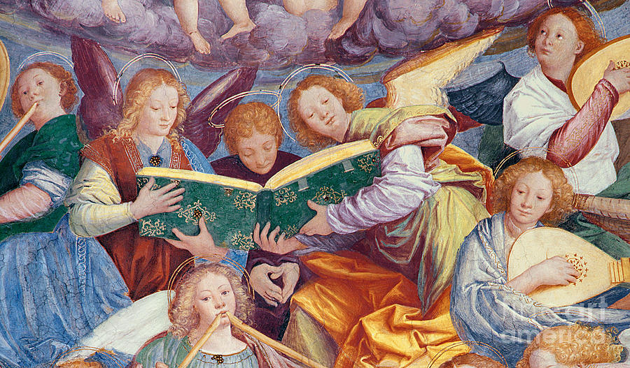 From The Dome Painting - The Concert Of Angels by Gaudenzio Ferrari