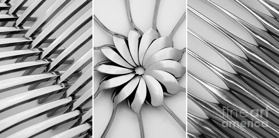 Diagonal Photograph - The Cutlery Set by Natalie Kinnear