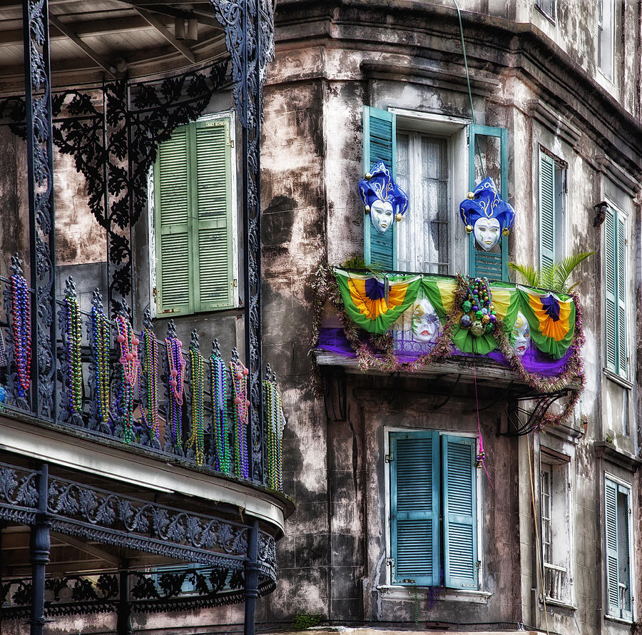 Mardi Gras Photograph - The French Quarter during Mardi Gras by Mountain Dreams