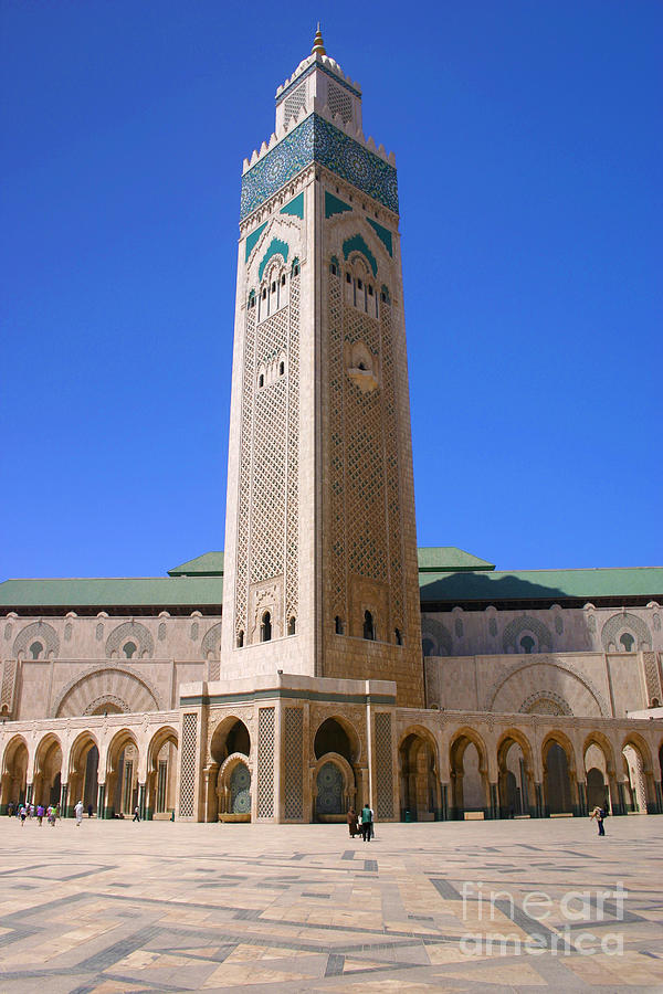 Casablanca Photograph - The Hassan II Mosque Grand Mosque with the Worlds Tallest 210m Minaret Sour Jdid Casablanca Morocco by PIXELS  XPOSED Ralph A Ledergerber Photography