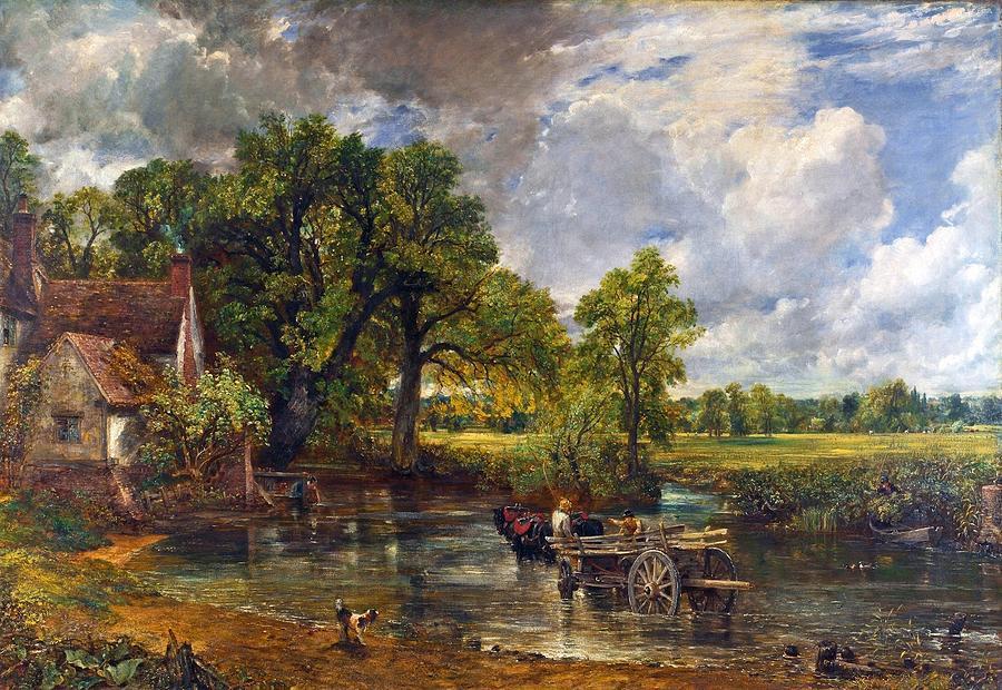 The Hay Wain Painting - The Hay Wain by John Constable