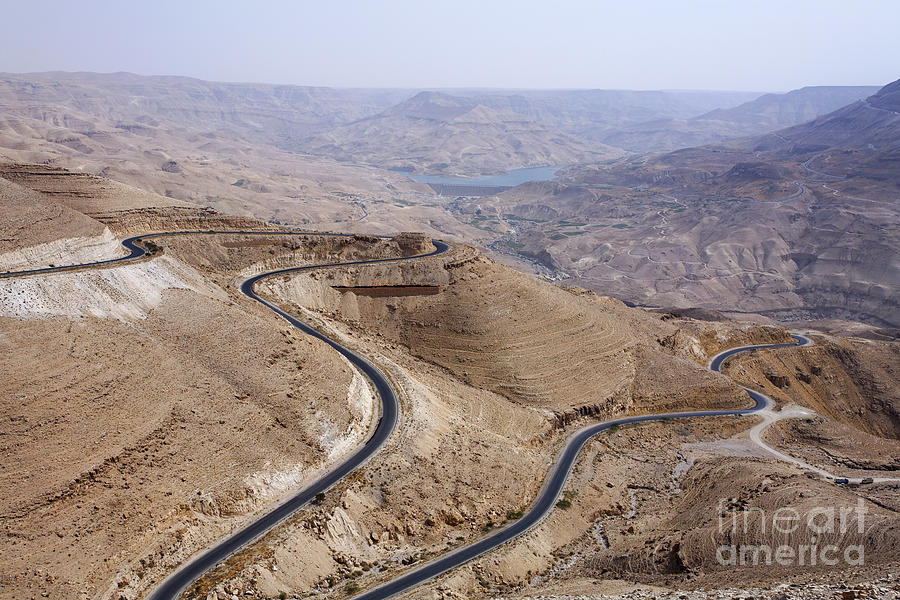 Wadi Mujib Photograph - The Kings Highway At Wadi Mujib Jordan by Robert Preston