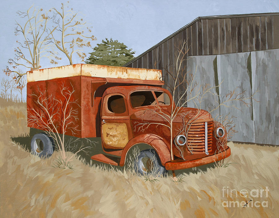 Old Truck Painting - The Legacy of Randolph Fisher by Jennifer  Donald