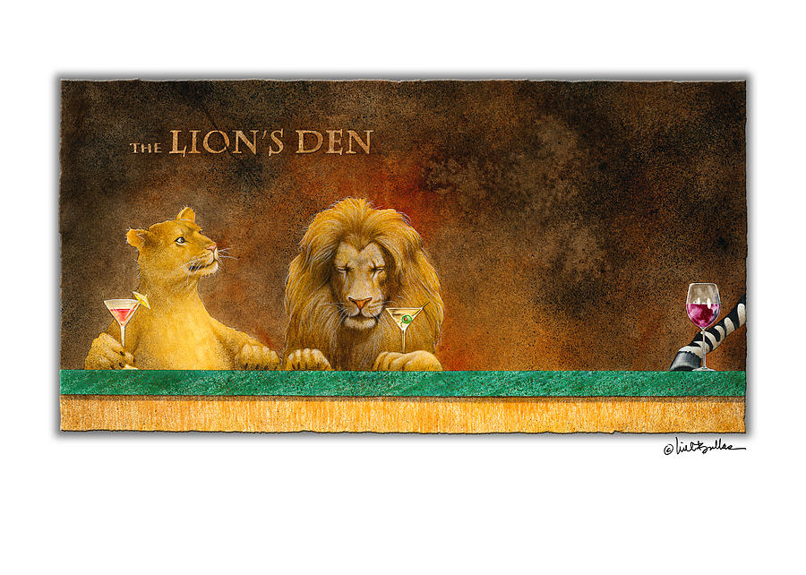 Will Bullas Painting - the Lions Den... by Will Bullas
