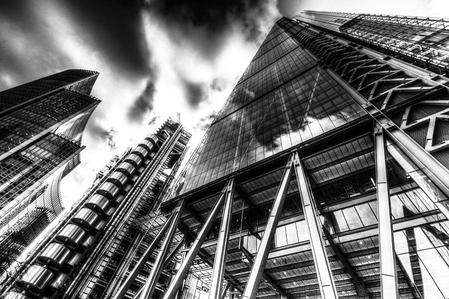 The Lloyds Of London Cheesegrater And Willis Group London Photograph