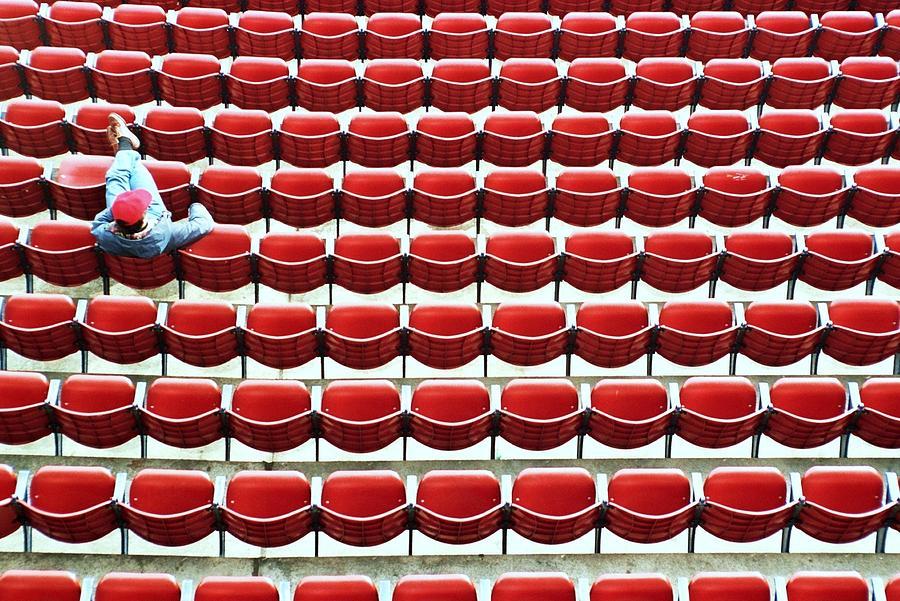The Lone Fan Photograph - The Lone Fan by Allen Beatty