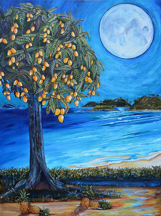 The Mango Tree Painting By Patti Schermerhorn