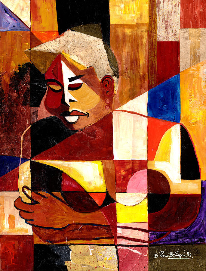 Cubism Painting - The Matriarch - Take 2 by Everett Spruill
