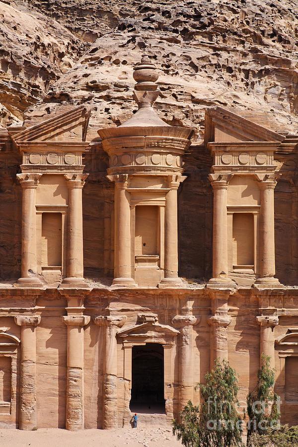 Monastery Photograph - The Monastery At Petra In Jordan by Robert Preston