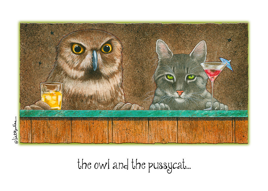 Will Bullas Painting - The Owl And The Pussycat... by Will Bullas