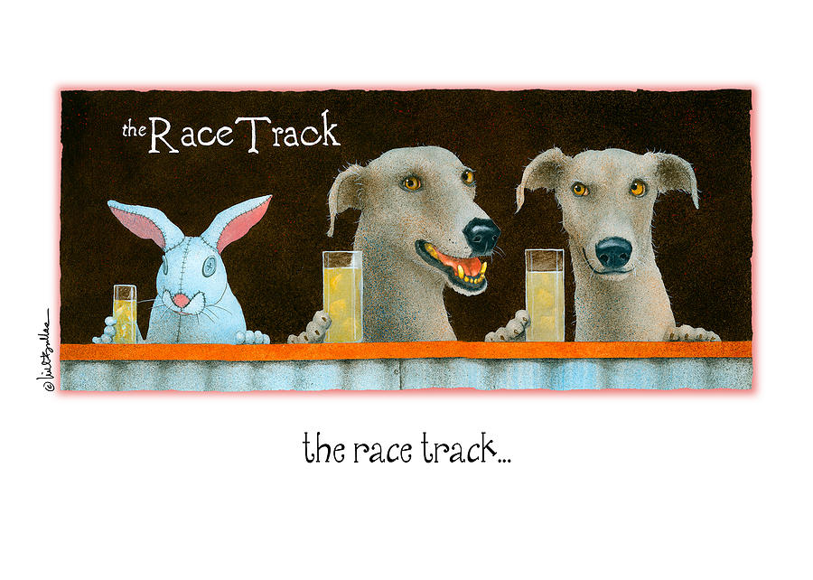Bullis Painting - The Race Track... by Will Bullas