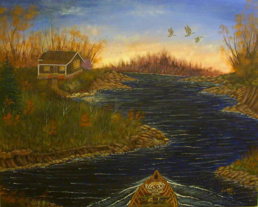 Hunting Painting - The Return by David Bentley