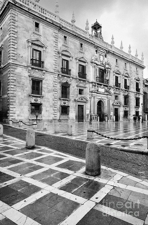 Monochrome Photograph - The Royal Chancery Of Granada by Guido Montanes Castillo