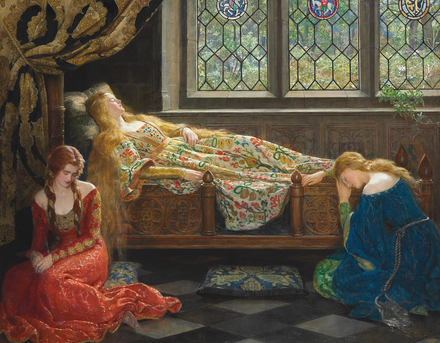The Sleeping Beauty Painting - The Sleeping Beauty by John Collier