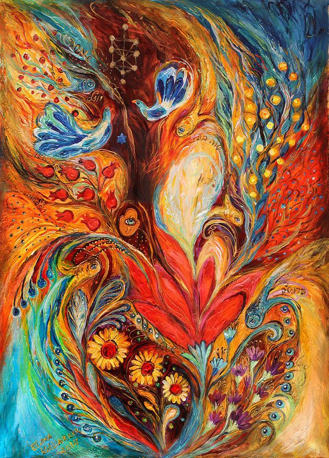 Jewish Art Prints Painting - The Tree Of Life by Elena Kotliarker