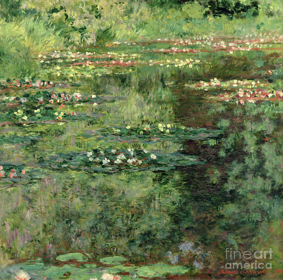 Impressionist Painting - The Waterlily Pond by Claude Monet