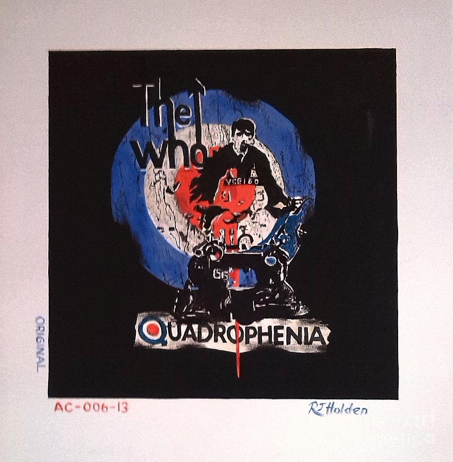 The Who Painting - The Who - Quadrophenia by Richard John Holden RA