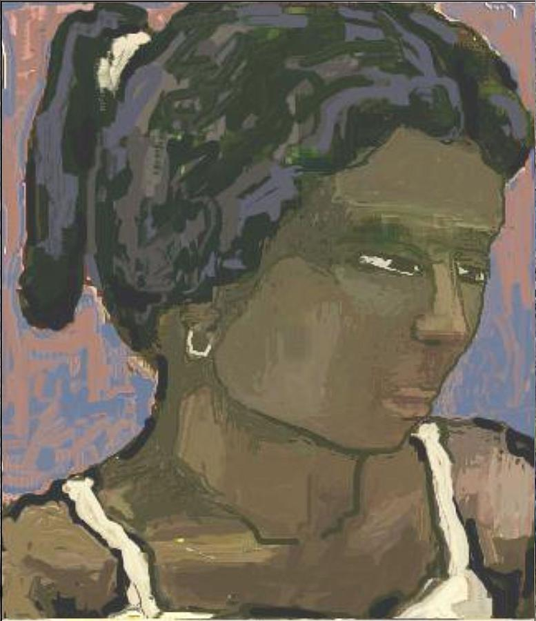Post-impressionism Painting - The Woman With The White Barrette by Pemaro