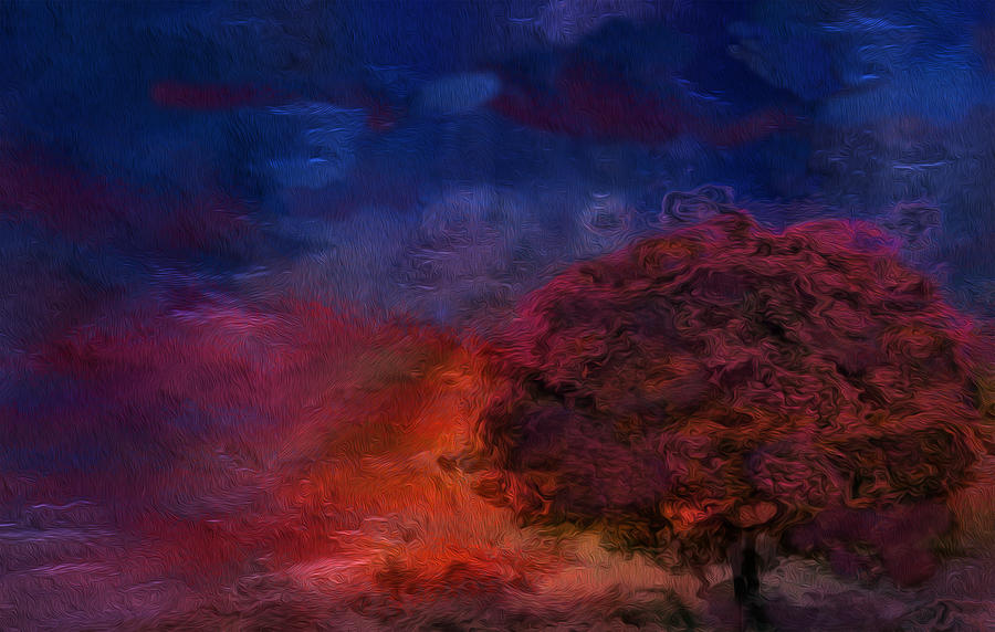 Abstract Painting - Through The Mist by Jack Zulli
