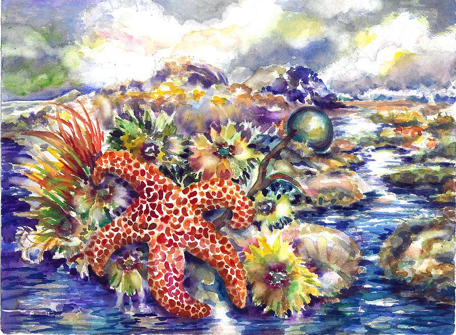 Starfish Painting - Tidal Pool I by Ann  Nicholson