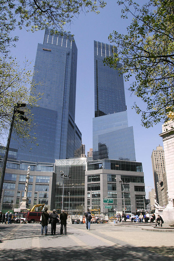 Time Warner Building At Columbus Circle Opens For Business Photograph by Jean-Christian Bourcart