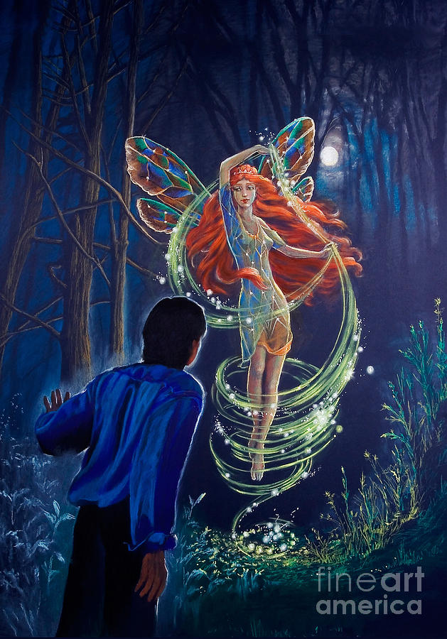 Faeries Drawing - Tom Quinn And The Other World by Kathryn Donatelli