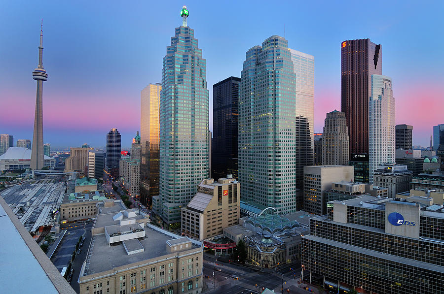 Canada Photograph - Toronto City At Dusk With Cn Tower by Jaynes Gallery
