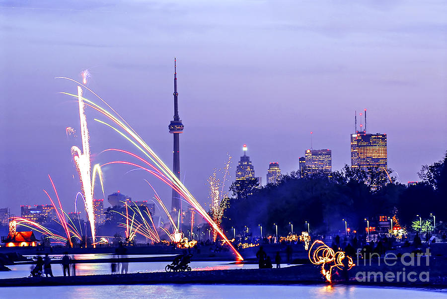 Toronto Photograph - Toronto Fireworks by Elena Elisseeva