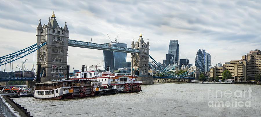 City Centre Photograph - Tower Bridge London by Donald Davis