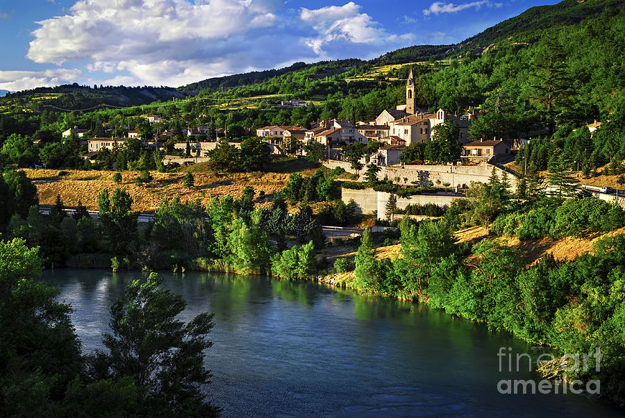 Sisteron Photograph - Town Of Sisteron In Provence by Elena Elisseeva