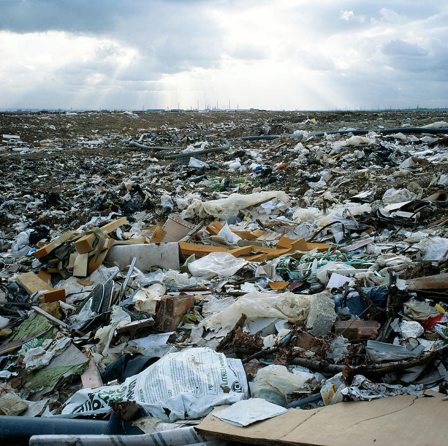 Environment Photograph - Toxic Waste Dump by Robert Brook/science Photo Library