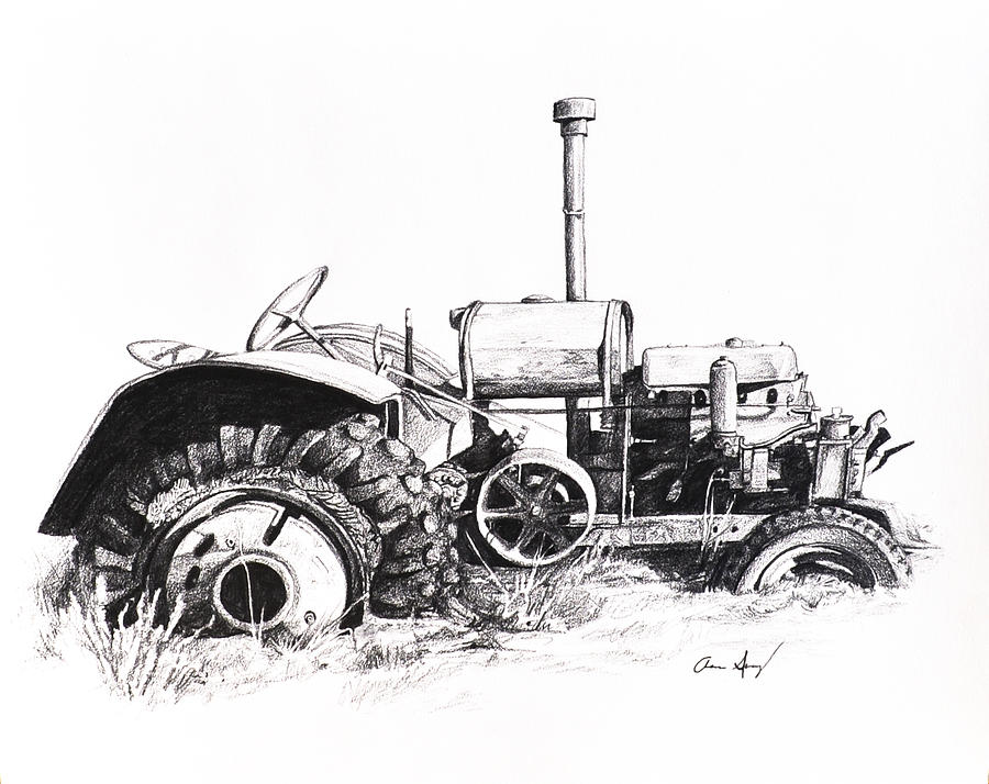 tractor drawing by aaron spong
