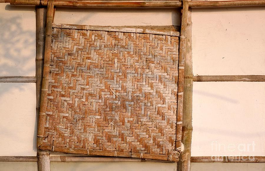 House Photograph - Traditional Chinese Bamboo Structure by Yali Shi