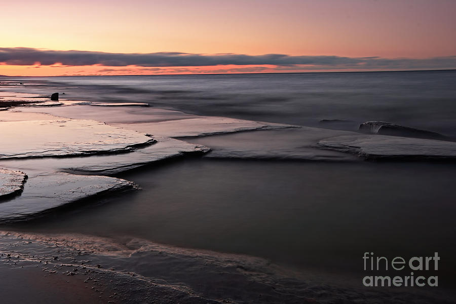Seascape Photograph - Tranquil Beach by Charline Xia