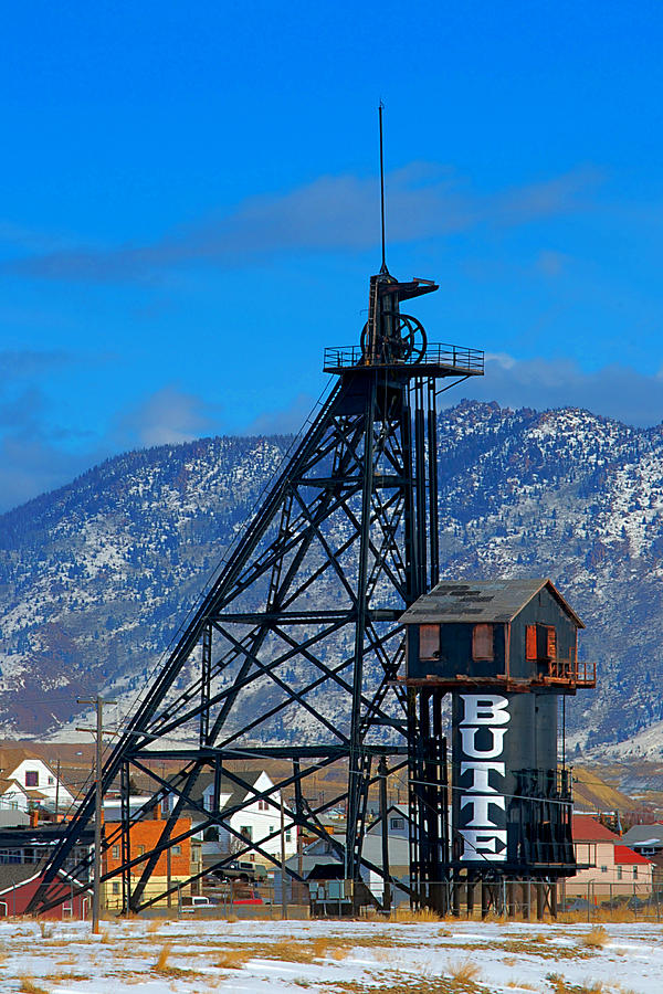 Butte Montana Photograph - Travona Mine  by Kevin Bone