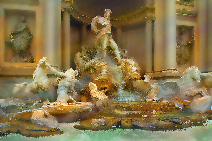 Trevi Photograph - Trevi Fountain by Bill Quick