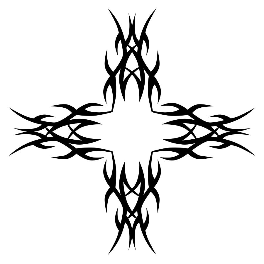 7f85fa1cd Gothic Style Drawing - Tribal Tattoo Art Designs. by RuDVi