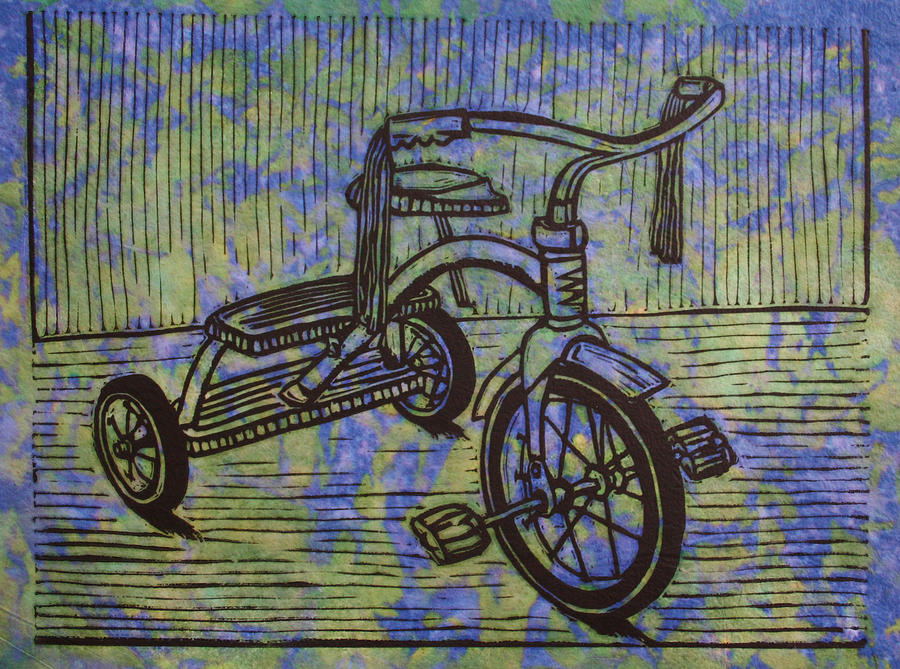 Tricycle Drawing - Tricycle by William Cauthern
