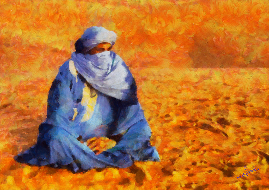Marocco Painting - Tuareg 2 by George Rossidis