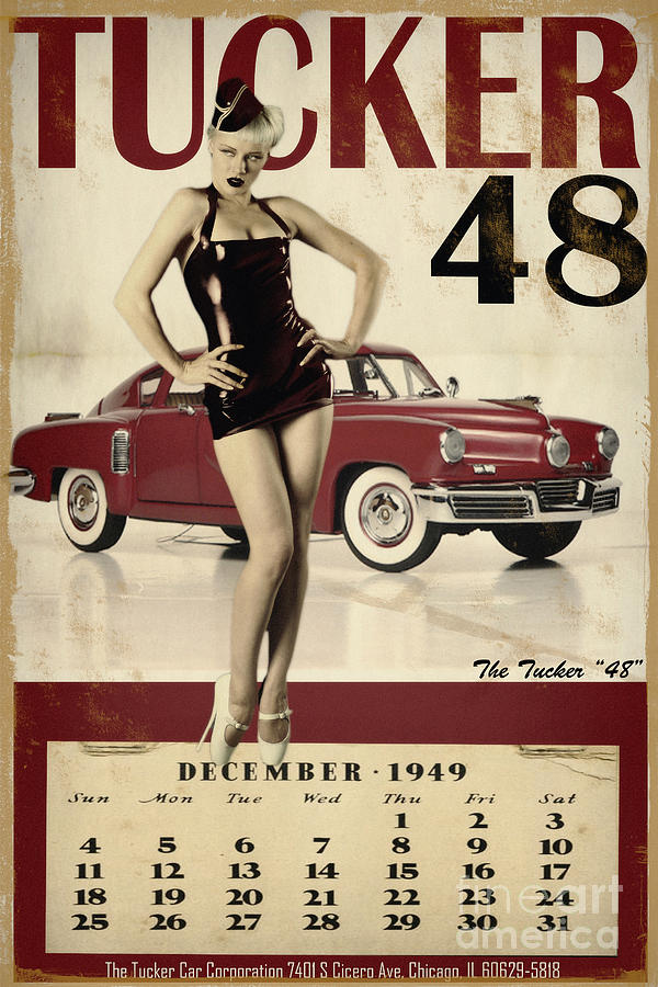 Pinup Photograph - Tucker 48 by Cinema Photography