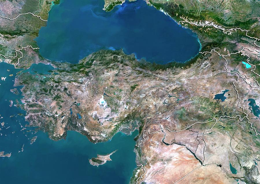 21st Century Photograph - Turkey 2 by Planetobserver/science Photo Library