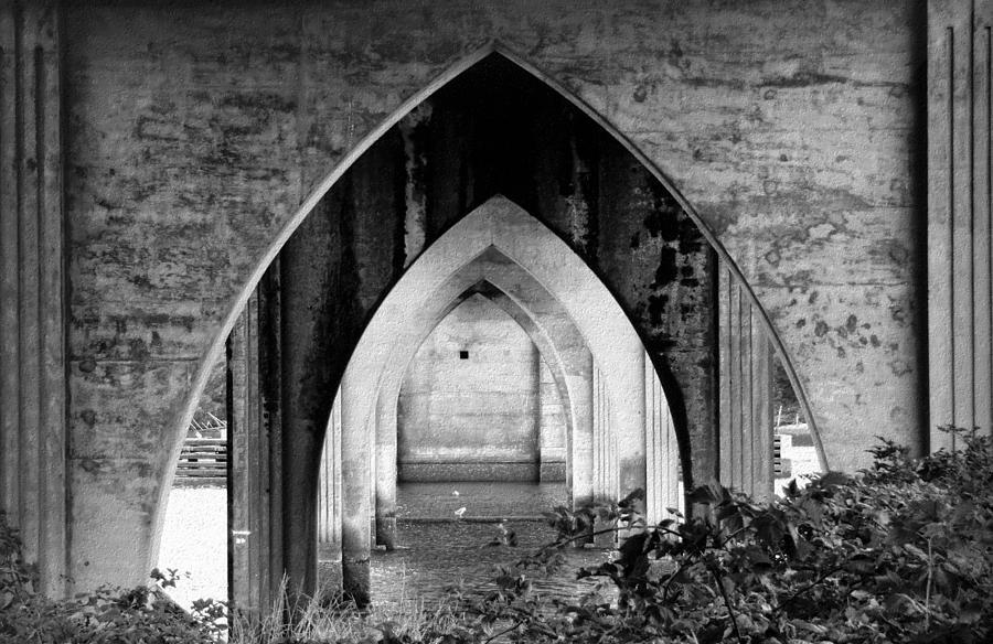 Bridge Photograph - Under The Bridge by Katie Wing Vigil