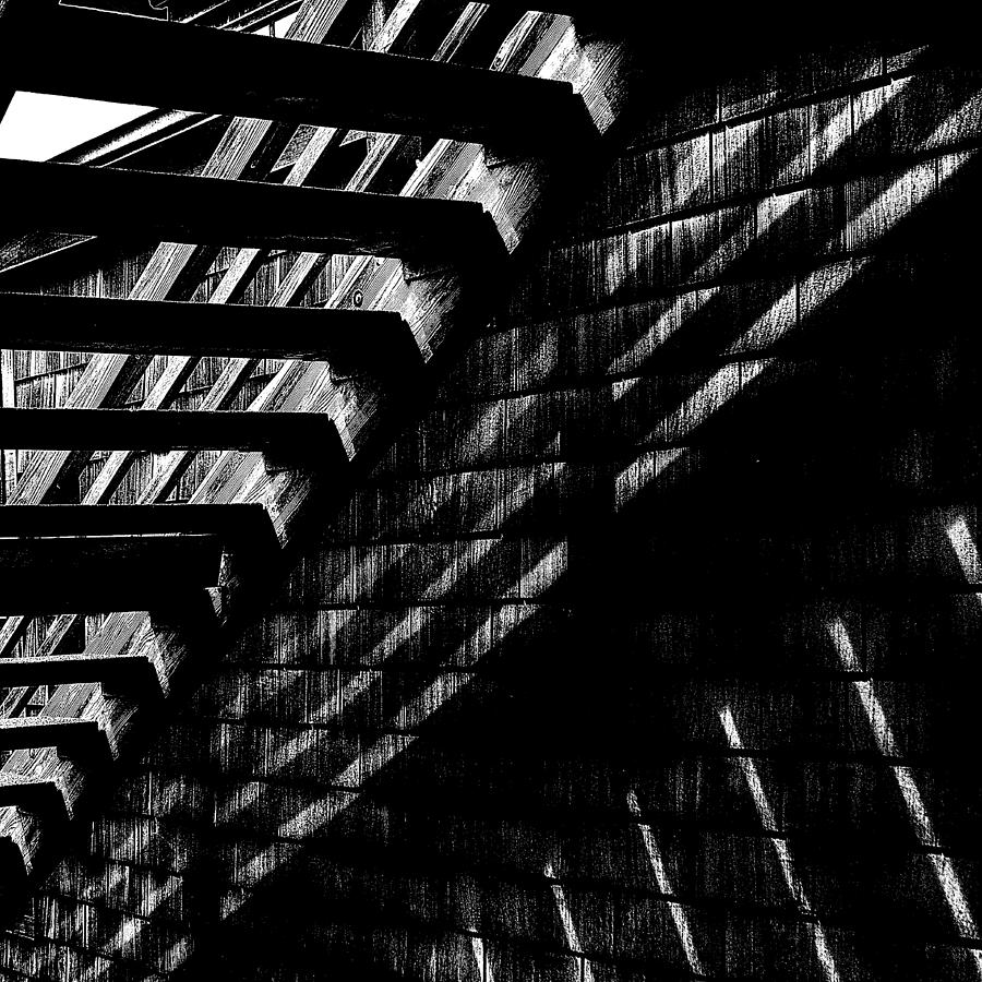 Stairs Photograph - Under The Stairs by David Patterson